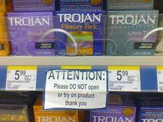 This sign at Walmart: