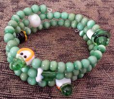 St. Patrick's Day memory wire bracelet