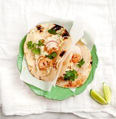 Chipotle shrimp tacos.