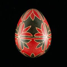 Pysanky Eggs | Pysanky Ukrainian Easter Egg Red Tulips Hand Decorated Quail Egg