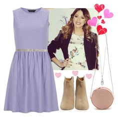 A fashion look from June 2014 featuring sleeveless dress, and bootie boots. Browse and shop related looks. Violetta Outfits, Violetta Disney, Fiorelli, Karen Walker, Couture, Disney Style, School Outfits, What To Wear, Cute Outfits