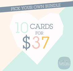 10 Templates for 37 Dollars  Make Your Own by PaperLarkDesigns, $37.00 SAVE $43!! https://www.etsy.com/listing/166380341