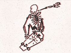 Cool Small Tattoos, Cute Tattoos, Hand Tattoos, Tatoos, Skateboard Tattoo, Skateboard Design, Skeleton Drawings, Skeleton Tattoos, Poke Tattoo