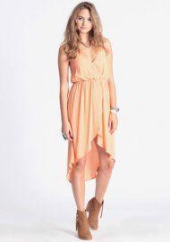 Orange Creamsicle High-Low Dress