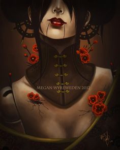 "11x14 Neo Victorian Steampunk art digital art lustre print ""Opium"" oriental Asian eastern dark fantasy art. $27.50, via Etsy."