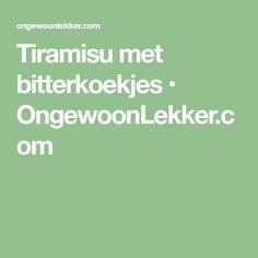 Tiramisu met bitterkoekjes • OngewoonLekker.com