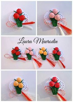 quilling my passion: Brosa buchetel de lalele Paper Quilling Flowers, Paper Quilling Tutorial, Paper Quilling Designs, Quilling Patterns, Quilling Videos, 3d Quilling, Quilling Jewelry, Hobbies And Crafts, Diy And Crafts