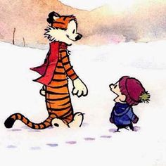 It's almost that time of the year. #snow #winter #cold. #calvinandhobbes #billwatterson #candh #calvin #hobbes #calvineharoldo #comics #comicstrip #bestfriends #bff #bffs #art #artwork #instagram