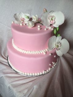 Orchid cake.