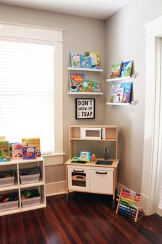 MY KIDS' FAVORITE USBORNE BOOKS + A NEW PLAY SPACE! - I set up this corner of our family room with some IKEA items we already had! Details in the post!