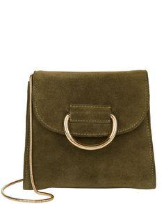 Tiny D Box Shoulder Bag, GREEN, hi-res