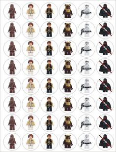 Lego Star Wars Paper Disk Toppers