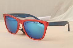 Retro 80's frogskin style sunglasses Crystal red/blue by JuanVerga, $10.00