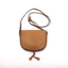 Vintage Bike Leather Linen Saddle Bag