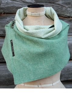 Harris Tweed Sage Should Wrap