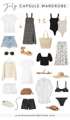 Capsule Outfits, Fashion Capsule, Capsule Wardrobe, Wardrobe Staples, Summer Outfits, Cute Outfits, Sporty Outfits, Casual Chic, Girl Fashion