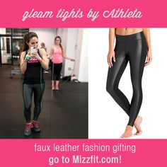 IN LOVE with the Gleam Tight from @athleta which I recently tested out during a HIIT workout event I hosted at Exceed NYC. Love these bc they're faux leather and can be worn for just about ANY workout. Click the link to read my review!