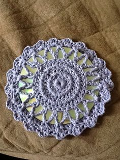 Pam's Crochet and Crafts: Pretty CD Hotpad