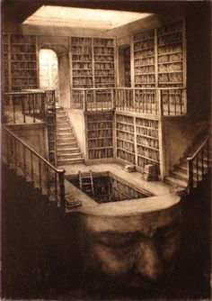 The library of surreal consciousness the mind of a crone. to have a library of knowledge in your head.