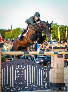 """showjumpingpassion: """" Rolf-Göran Bengsston and Casall ASK, 17-year-old Holsteiner stallion (Caretino x Lavall) €320,000 Longines Global Champions Tour Grand Prix CSI5* of Paris Source: Noelle Floyd """""""