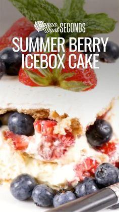 Desserts To Make, Frozen Desserts, Summer Desserts, No Bake Desserts, Summer Recipes, Frozen Treats, Fruit Recipes, Seafood Recipes, Vegetarian Recipes