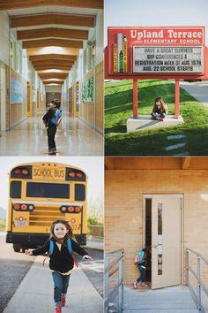 First day of Kindergarten picture ideas. Love the school bus one! @meredithbridgewater