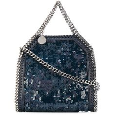 Stella McCartney sequinned Falabella tote (28.620 UYU) ❤ liked on Polyvore featuring bags, handbags, tote bags, blue, blue tote bags, faux leather tote bag, faux-leather handbags, genuine leather tote and leather tote