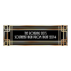 Add some Roaring 20s fun to any event with this Personalized Roaring '20s Medium Banner. An eye-catching addition to your party supplies, personalize ...