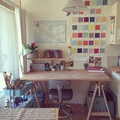 What is color without light? This dream workspace has it all! Regram via @christianahedlund  #MakeItBrilliant