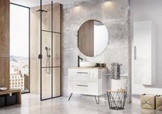 Meble łazienkowe/ bathroom furniture Futuris Collection Vanity, Mirror, Bathroom, Furniture, Design, Home Decor, Dressing Tables, Washroom, Powder Room