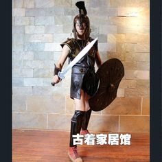 Armor costume /COS performance / ancient Rome Knight / Troy horse shield / commercial performance props