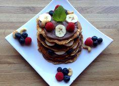 Pannekaker med sjokoladekrem Frisk, Pancakes, Healthy Lifestyle, Lunch, Healthy Recipes, Breakfast, Food, Vegans, Morning Coffee