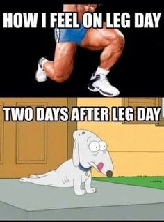 Two days after leg day