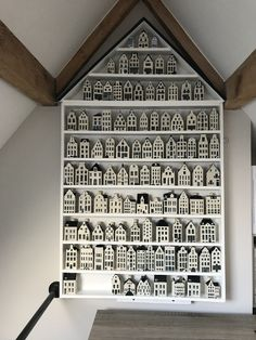 House of houses Pottery Houses, Ceramic Houses, Tiny Little Houses, Tiny House, Dutch House, Paper Houses, Wooden House, Miniature Houses, Delft
