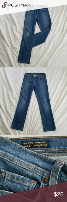Citizens of Humanity Jeans Excellent condition, like new! Labeled ava #142 low waist straight leg stretch. 98% cotton 2% elestan.  Approx measurements waist 14, rise 7, and inseam 27 inches. Citizens of Humanity Jeans Straight Leg