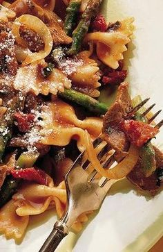 Beef with Bow Tie Pasta