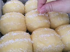 My Mind Patch: Natural Yeast Palm Sugar Coconut Bun French Brioche, Coconut Buns, Milk Bun, Resep Cake, Palm Sugar, Bread Recipes, Natural, Breads, Food