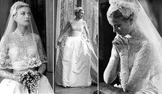 Ne pas lésiner sur la dentelle (et le sourire n'est pas optionnel) Mariage de Grace Kelly et Rainier de Monaco