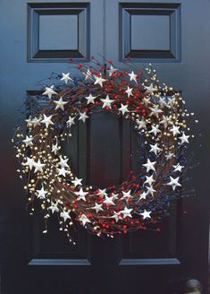 Memorial Day Wreath, Fourth of July Wreath, Americana Wreath, Patriotic Door Wreath, Country Wreath, Rustic Wreath Stars and Stripes