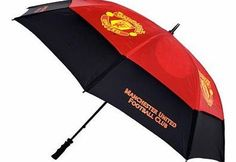 Fingerprint Designs Manchester United F.C. Golf Umbrella - tourvent double-canopy umbrella - 60 canopy wind resistant - vented lower panels mean this umbrella will not turn inside out - club colour panels and high quality screen print logos - official lic http://www.comparestoreprices.co.uk/golf-umbrellas/fingerprint-designs-manchester-united-f-c-golf-umbrella.asp