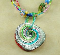 Bold and bright glass necklace by davyjonestreasures on Etsy, $20.00