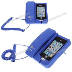 Cheap KK-02 Handset Dock Stand with Hands Free for iPhone 4,4S,3G/3GS,iPhone 5 Blue (BLUE)   Everbuying.com