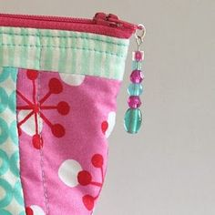 Beautiful Beaded Zipper Pull - this is an adorable pattern - every mom can use another organizer pouch