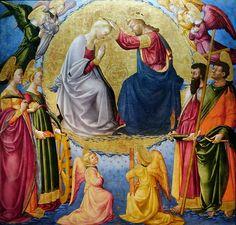 Neri di Bicci - Incoronazione della Vergine (Innocenti) - 1460 - Museo degli Innocenti, Firenze