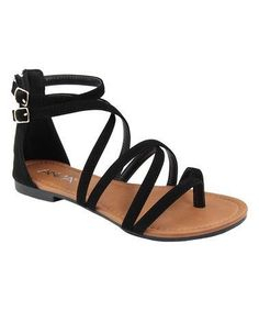 e1dbad47a7cc07 Loving this Black Casey Sandal on  zulily!  zulilyfinds Cute Sandals