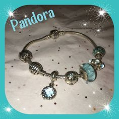 ❄️ Pandora Bundle!❄️Fair Offers Welcome! This is an authentic Pandora bracelet with authentic Pandora charms. There are seven charms in total. Easily over $400+ value. Was recently dip-cleaned.  Comes with polishing cloth. The polishing cloth was used once or twice. That's a $15 value.   I will not separate and sell pieces individually. I want to sell the bracelet with 7 charms altogether.  This price is a STEAL for what you are getting. Please do not insult me with lowball offers on this…