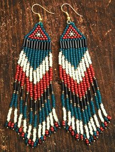 Golden pyramid beaded earrings - on my list.