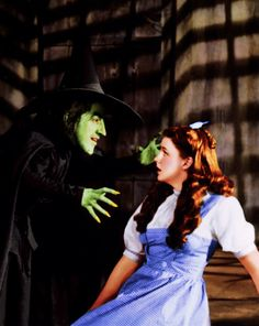 Wizard of Oz (1939) Margaret Hamilton (the wicked witch of the west), Judy Garland