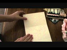 Tutorial - fold out pocket page from 12 x 12 paper