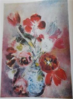 Margareta Sterian, Anxious Flowers #flower #painting